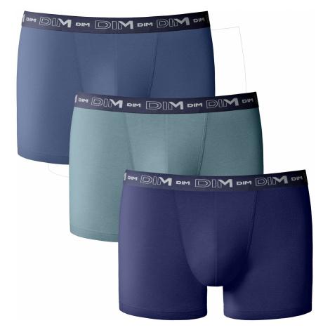 Blancheporte Boxerky Dim, sada 3 ks modrá+zelená