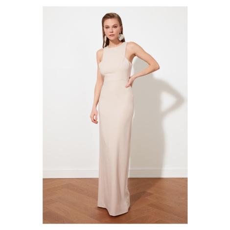 Trendyol Powder Collar Detailed Evening Dress & Graduation Dress