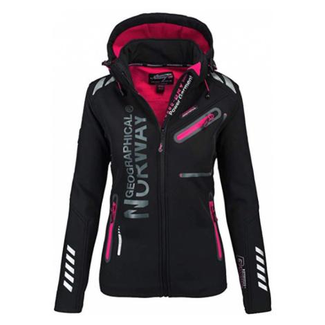 Luxusní značková dámská bunda GEOGRAPHICAL NORWAY s odepínatelnou kapucí Turbo-Dry Barva: Černá