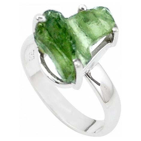 AutorskeSperky.com - Stříbrný prsten s vltavínem - S3181