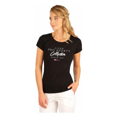 Dámské tričko s krátkým rukávem Litex 5B278   černá