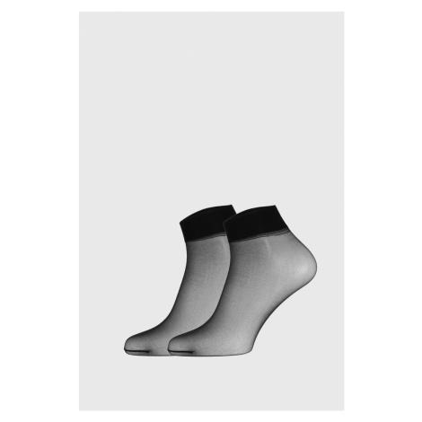 2 PACK silonových ponožek Easy 20DEN nero Giulia