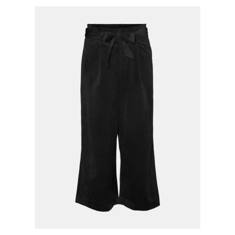 Vero Moda černé menšestrové culottes kalhoty Londyn