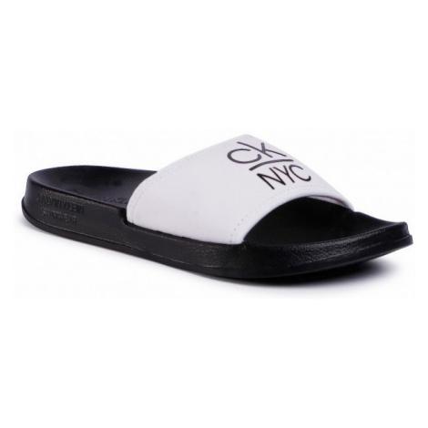 Calvin Klein Calvin Klein dámské bílo černé pantofle SLIDE