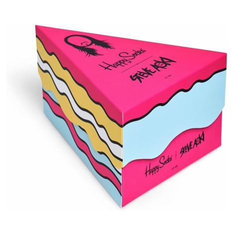 Dárkový box ponožek Happy Socks x Steve Aoki - 3 páry