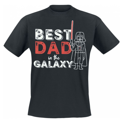 Star Wars Darth Vader - Best Dad In the Galaxy tricko černá