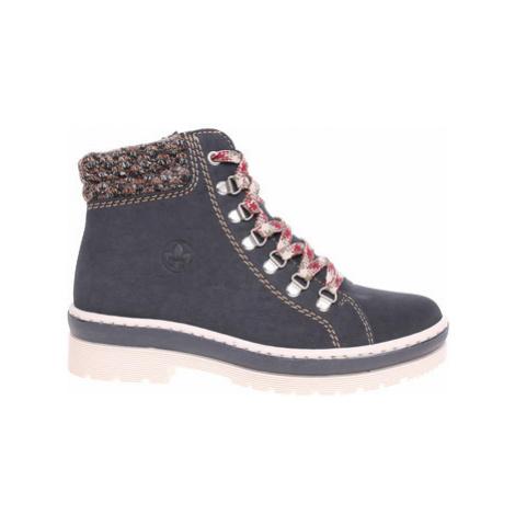 Rieker Dámská kotníková obuv Z8228-14 blau Modrá