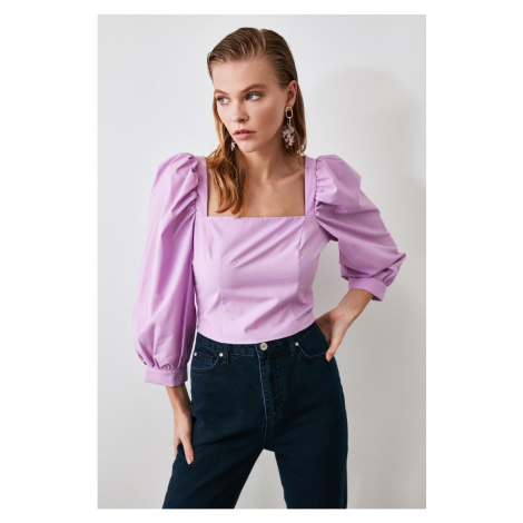 Trendyol Lila Balloon Sleeve Blouse