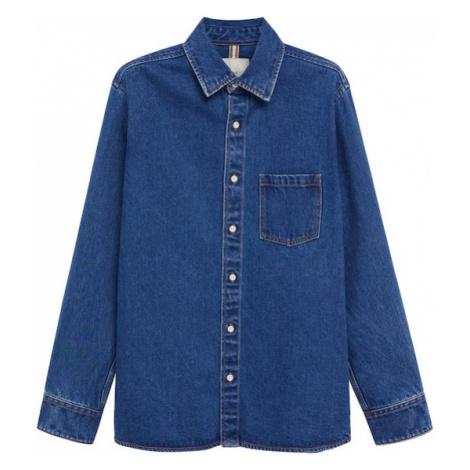 MANGO MAN Košile tmavě modrá