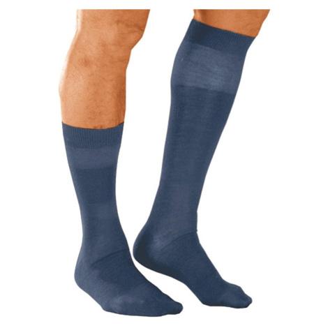 Blancheporte Podkolenky s masážním efektem, 98 % bavlna, 2 páry námořnická modrá