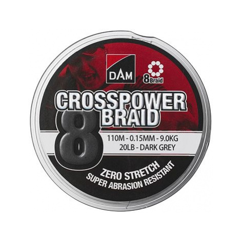 DAM Crosspower 8-Braid 150m Dark Grey