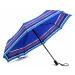Modrý plně automatický skládací dámský deštník s pruhy Jimena Doppler