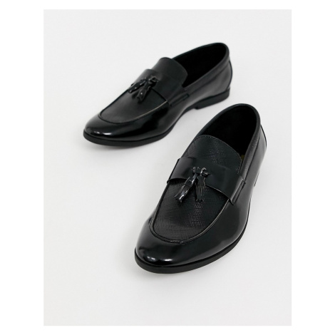 River Island patent loafer black