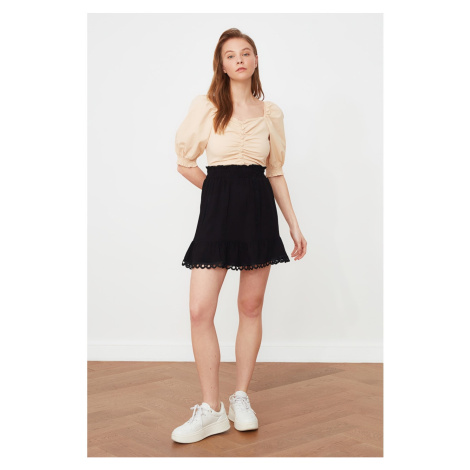 Trendyol Black Accessory Detailed Skirt