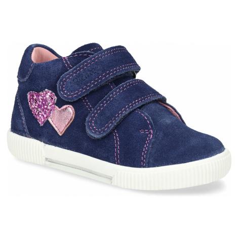 Modrá dívčí kožená kotníková obuv Richter