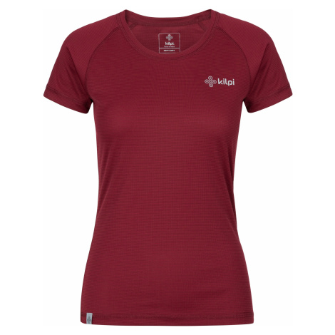 Dámské tričko KILPI BORDER-W tmavě červená