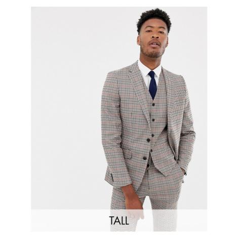 Gianni Feraud Tall slim fit heritage check wool blend suit jacket Féraud