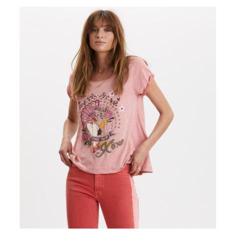 Tričko Odd Molly Odd Vibes Tee - Růžová