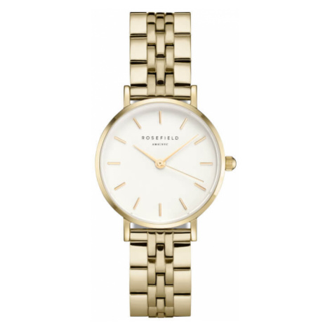 Rosefield The Small Edit White Steel Gold 26mm