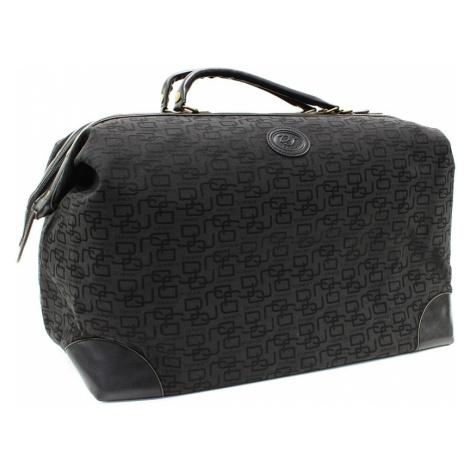 Černá velká cestovní látková taška se vzorem Gabie Mahel