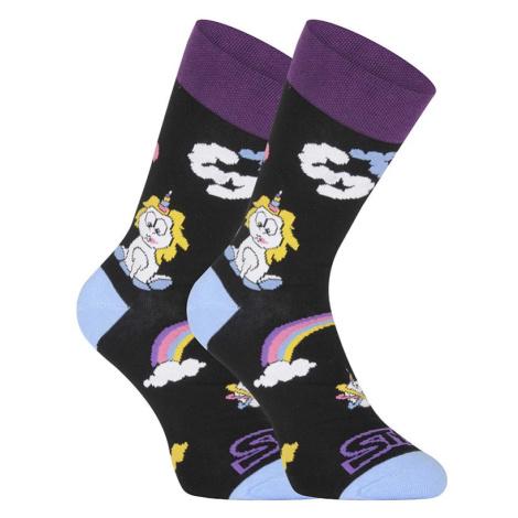 Veselé ponožky Styx vysoké Unicorn (H1158)