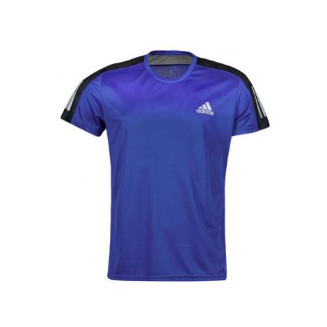 Adidas OWN THE RUN TEE Modrá