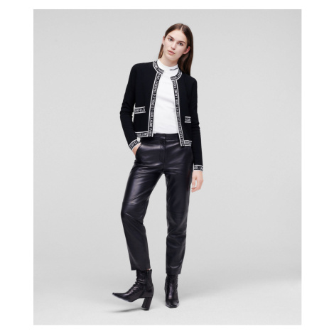 Svetr Karl Lagerfeld Classic Logo Cardigan - Černá