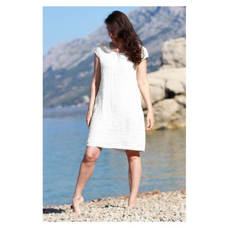 Dámské lněné letní šaty