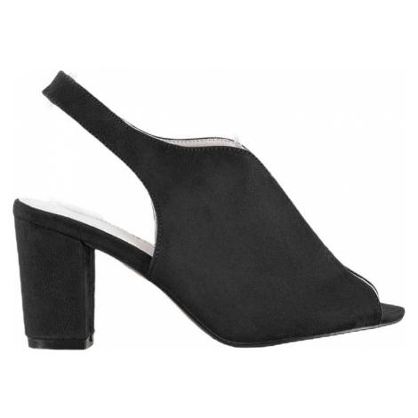 černé sandálky na sloupku BASIC