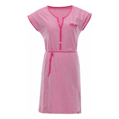 Berka růžová dámské šaty ALPINE PRO
