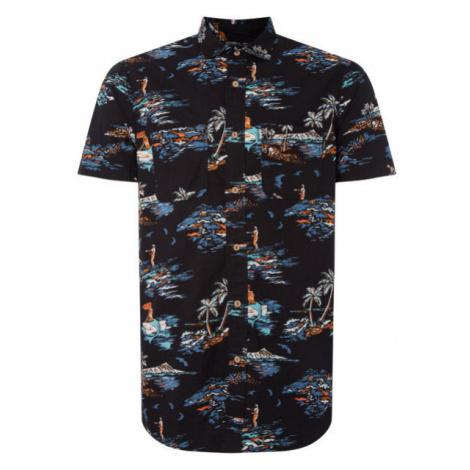O'Neill LM TROPICAL S/SLV SHIRT černá - Pánská košile
