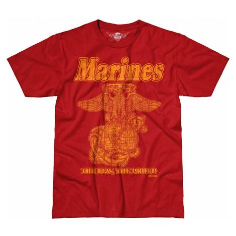 Pánské tričko 7.62 Design® USMC Retro - červené