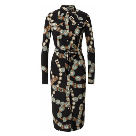 Lauren Ralph Lauren Košilové šaty 'DOANE' černá / hnědá / bílá / modrá / šedá