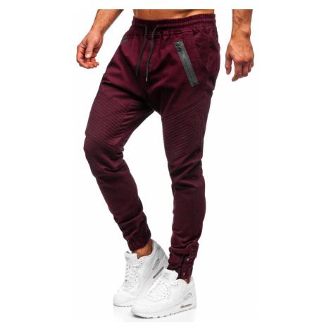 Vínové pánské jogger kalhoty Bolf 0952