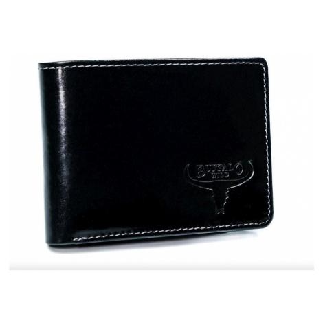 Pánská kožená peněženka Buffalo Wild Stronger, černá