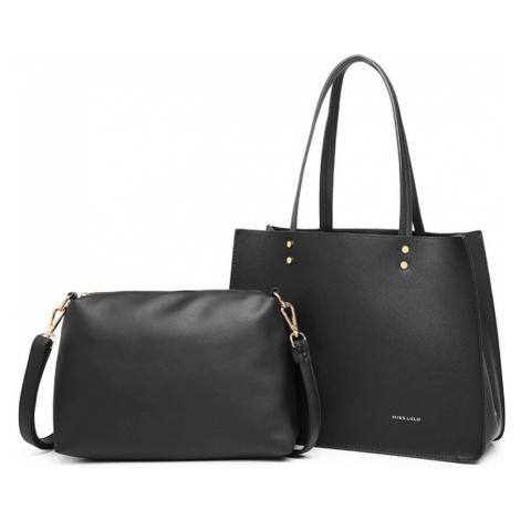 Černý praktický dámský 2v1 kabelkový set Britta Lulu Bags