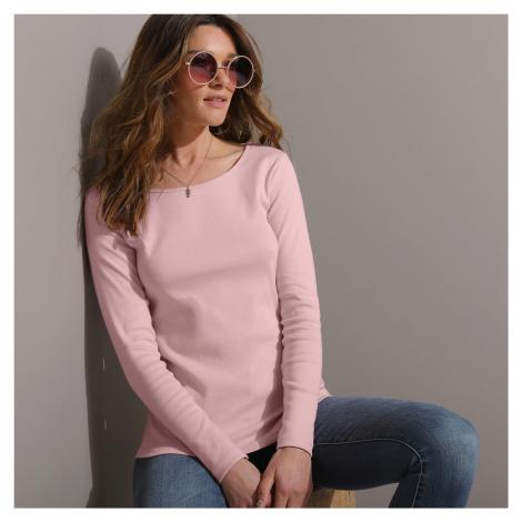Blancheporte Tričko s kulatým výstřihem světle růžová