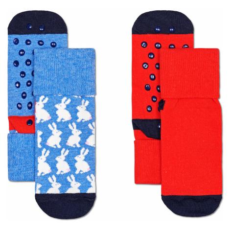 2-Pack Kids Bunny Anti Slip Happy Socks