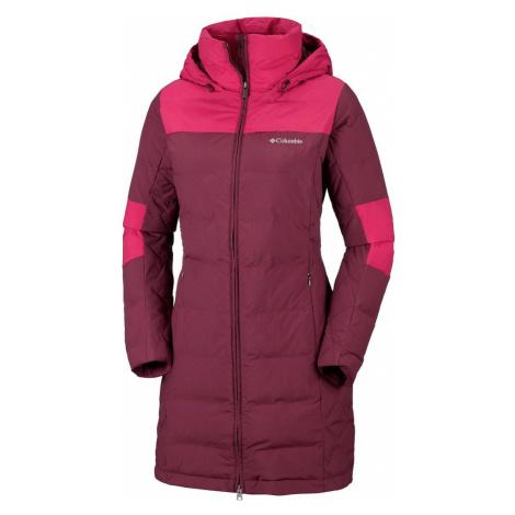 Kabát Columbia Cold Fighter™ Mid Jacket W - tmavě červená/fialová
