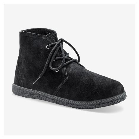 Blancheporte Kotníkové boty na zavázání černá