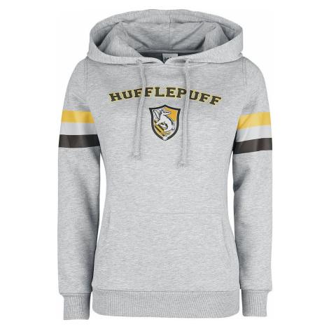 Harry Potter Hufflepuff - College Stripes Dámská mikina s kapucí prošedivelá