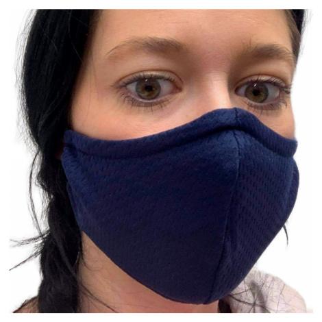 NANO rouška FIX AG-TIVE 10F 99,9% (2-vrstvá s kapsou, fixací nosu a 10 filtry) Modročerná