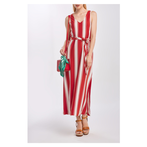 ŠATY GANT D2. STRIPED MAXI JERSEY DRESS