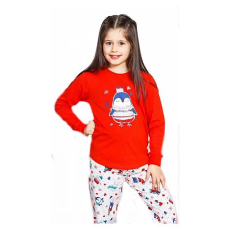 Dětské pyžamo dlouhé Vienetta Secret Tučňák velký | červená