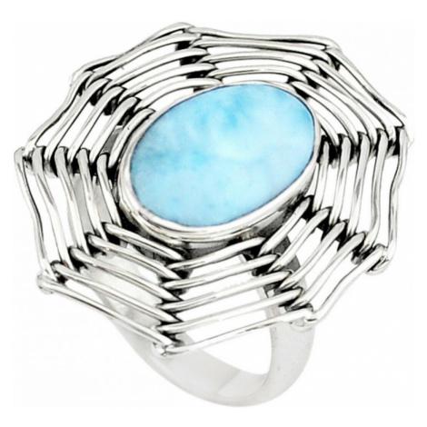 AutorskeSperky.com - Stříbrný prsten s larimarem - S3204