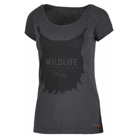 Women's T-shirt Lynx L black menthol Husky