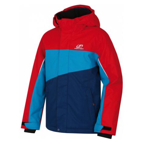 HANNAH MAJLO JR Dětská lyžařská bunda 10007361HHX01 racing red/caribbean sea