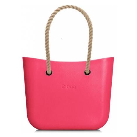 O bag kabelka MINI Amaranto s dlouhými provazy natural