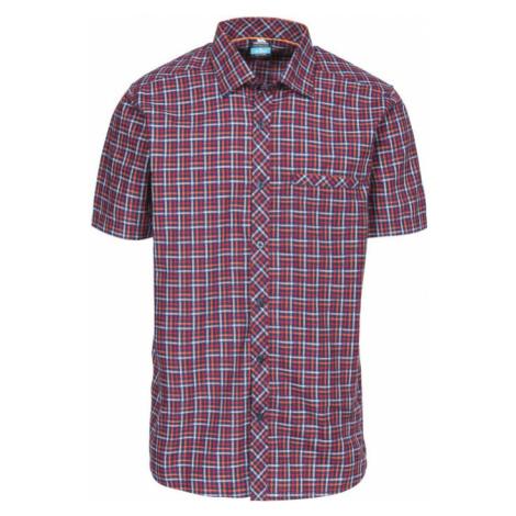 Trespass BAFFIN Pánská košile MATOSBN10006-PNK PRUNE CHECK