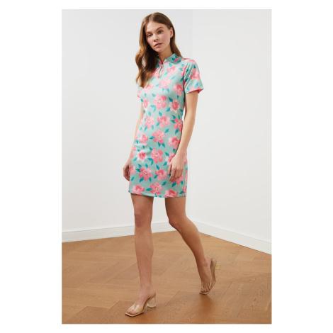Trendyol Mint Judge Collar Knit Dress